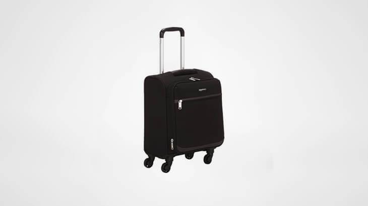 Amazon Basics Soft-Side Carry-On Spinner Luggage Suitcase