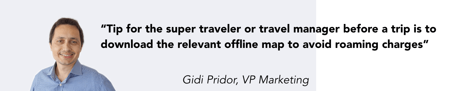 Tip for using Google Maps as a business traveler
