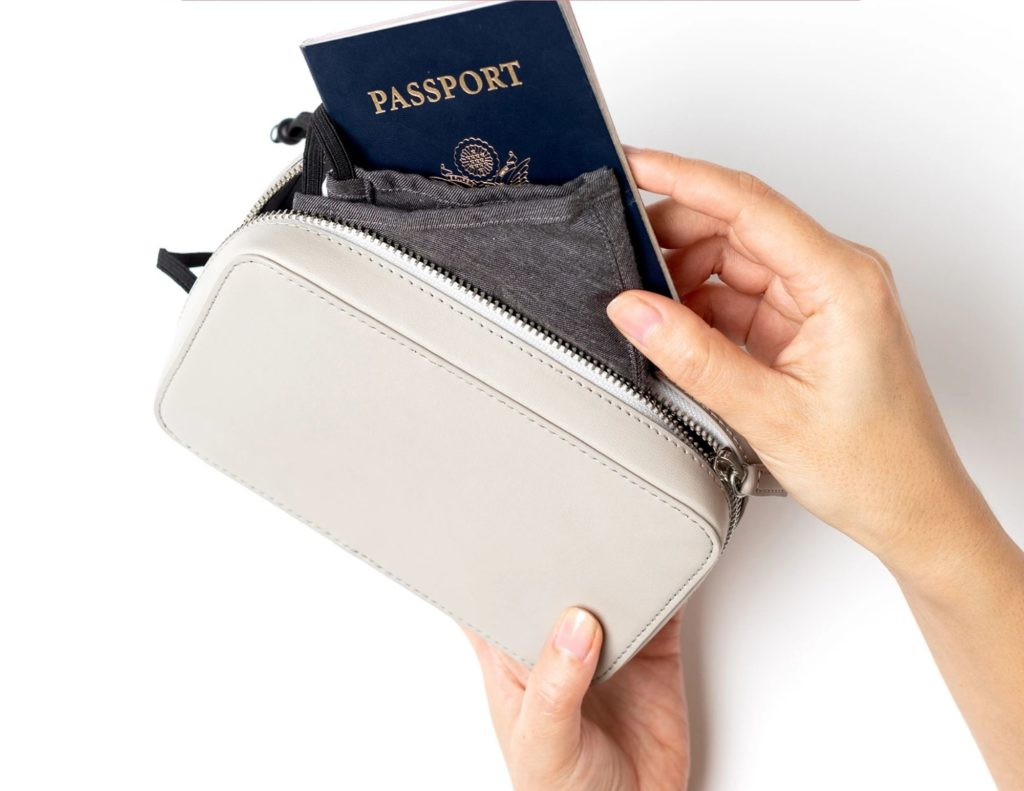 Travel essentials pouch