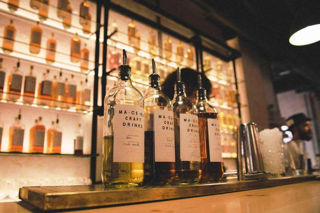 Gin bottles Macera