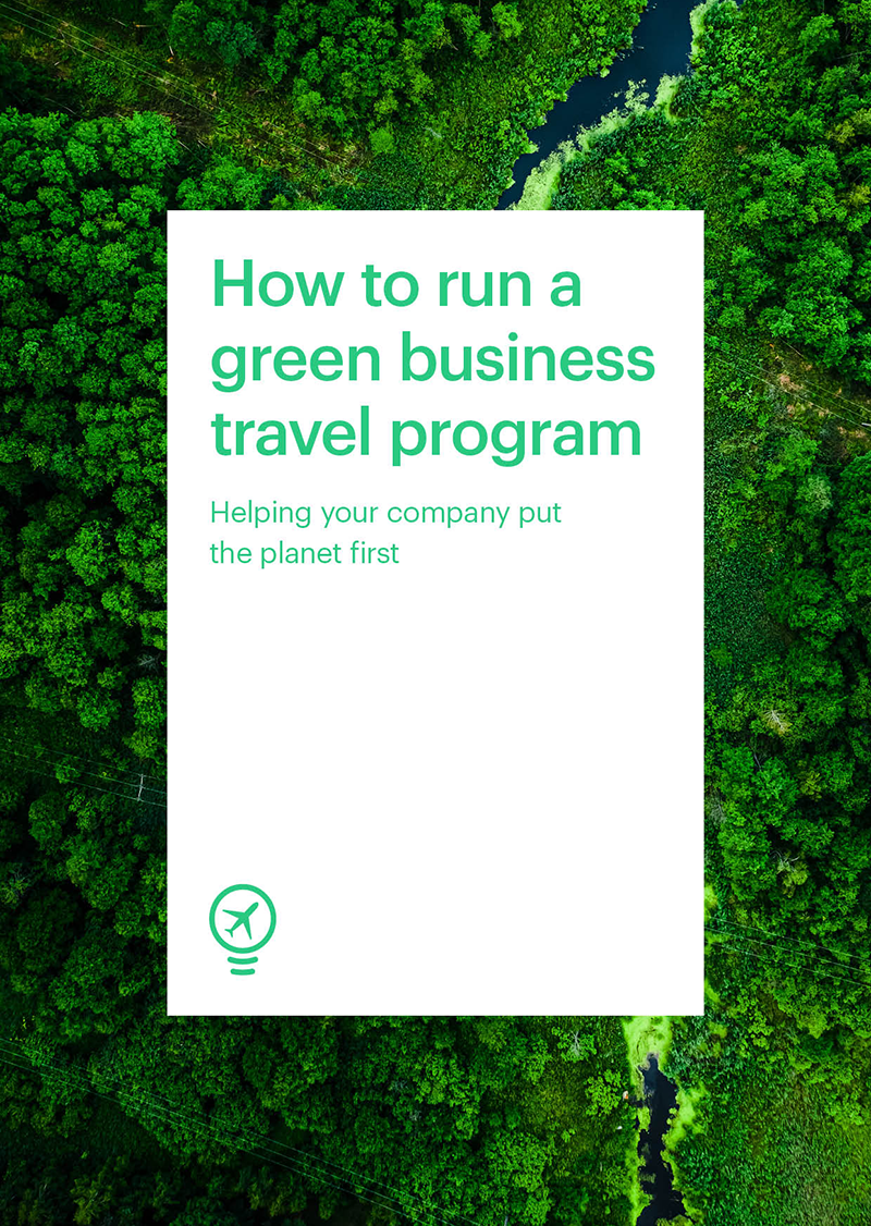 How to run a green business travel program