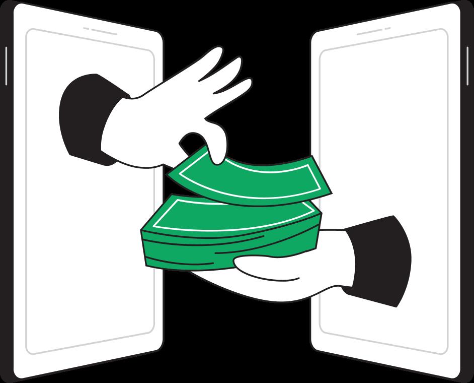 Illustration money exchange