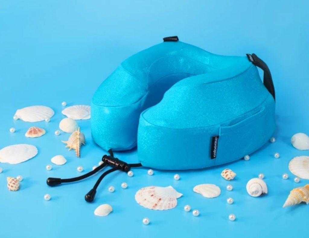 Blue neck pillow