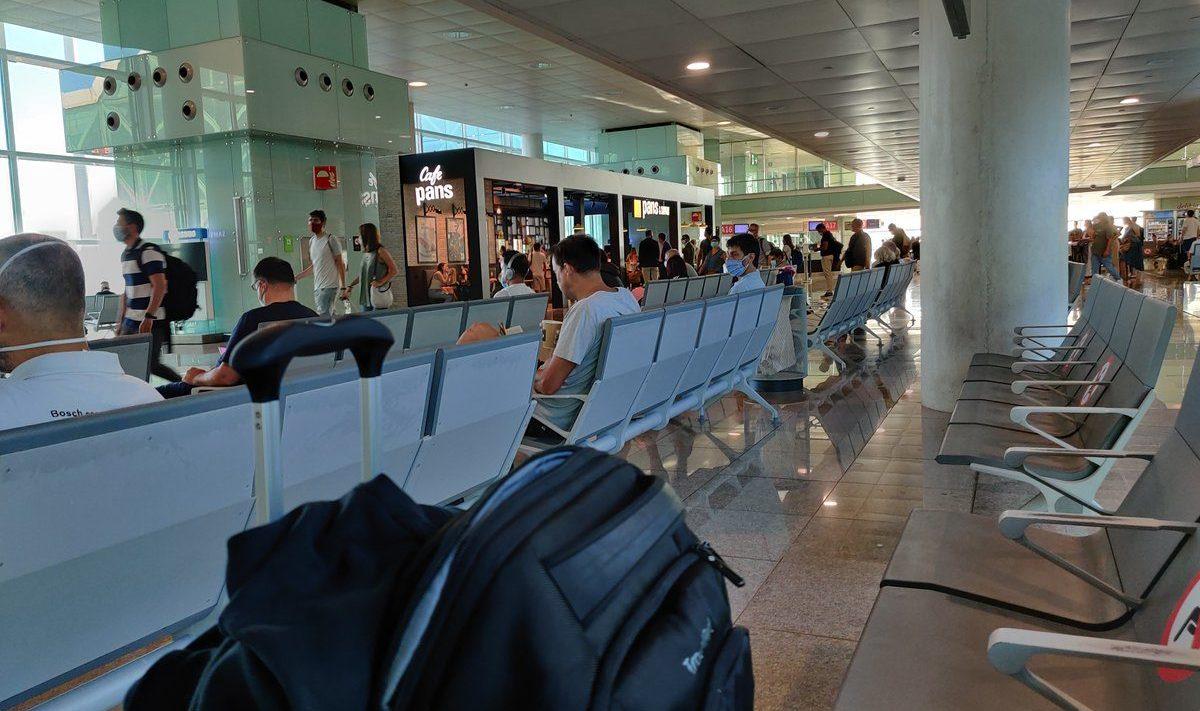 COVID airport terminal