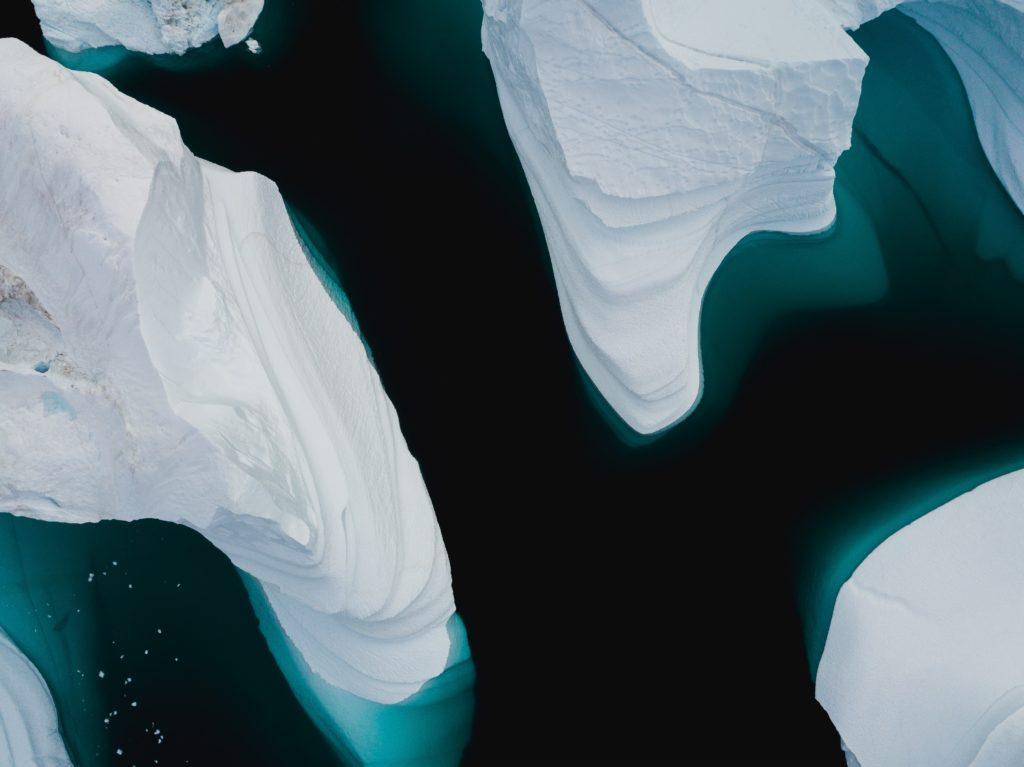 Polar ice caps melting