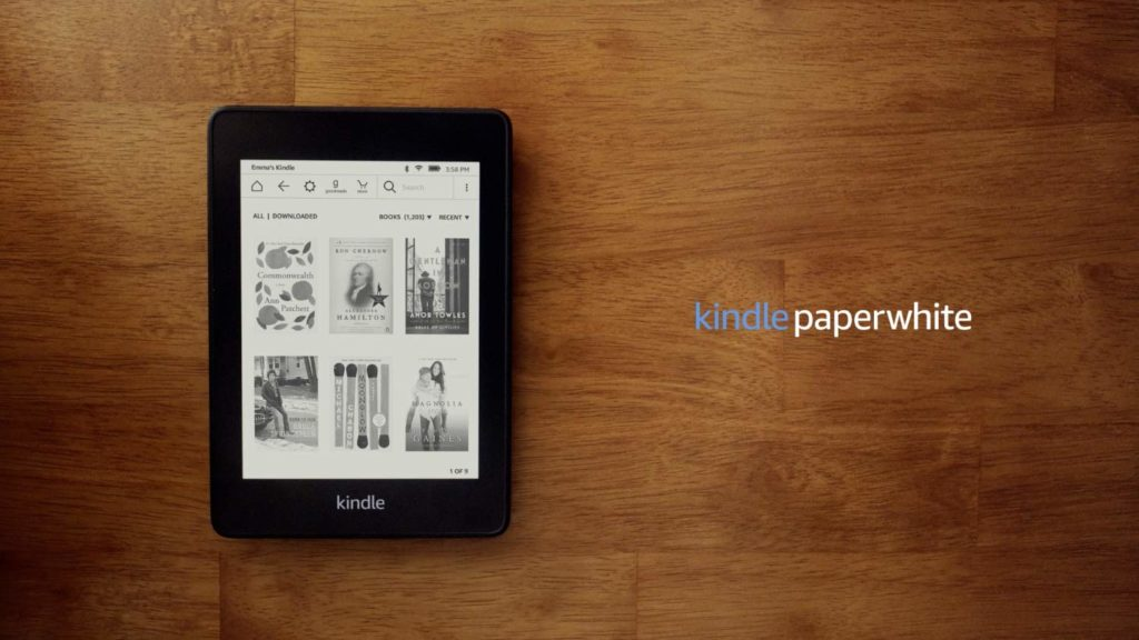 Amazon Kindle Paperwhite on a table