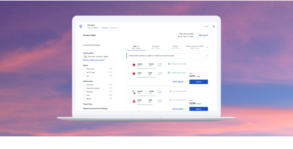 Best travel management platform - TravelPerk