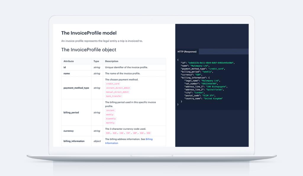 Invoice profile model