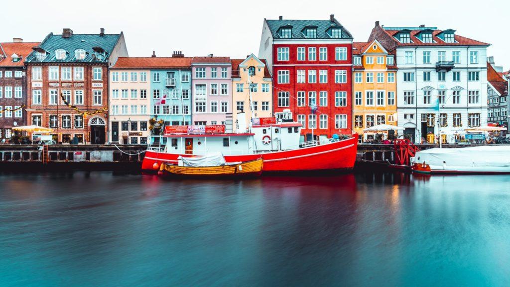 Cute canal town Denmark