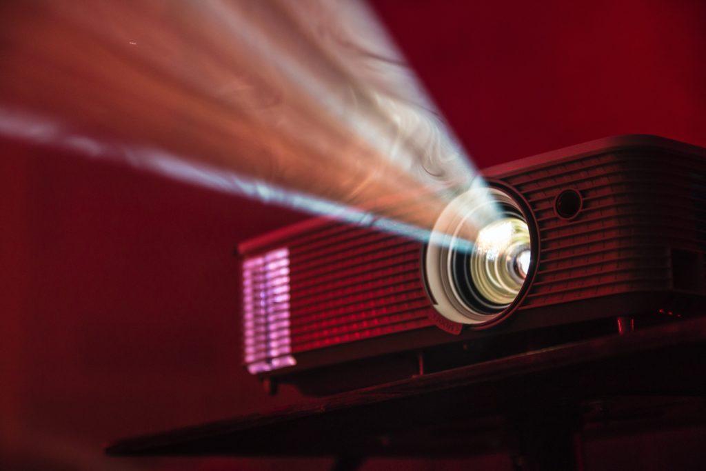 Close up movie projector