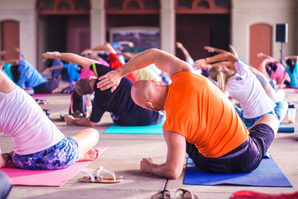 Yoga class exercise
