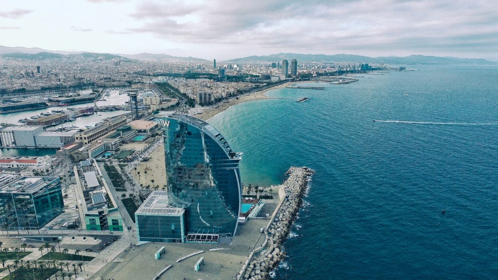 W Hotel Barcelona views