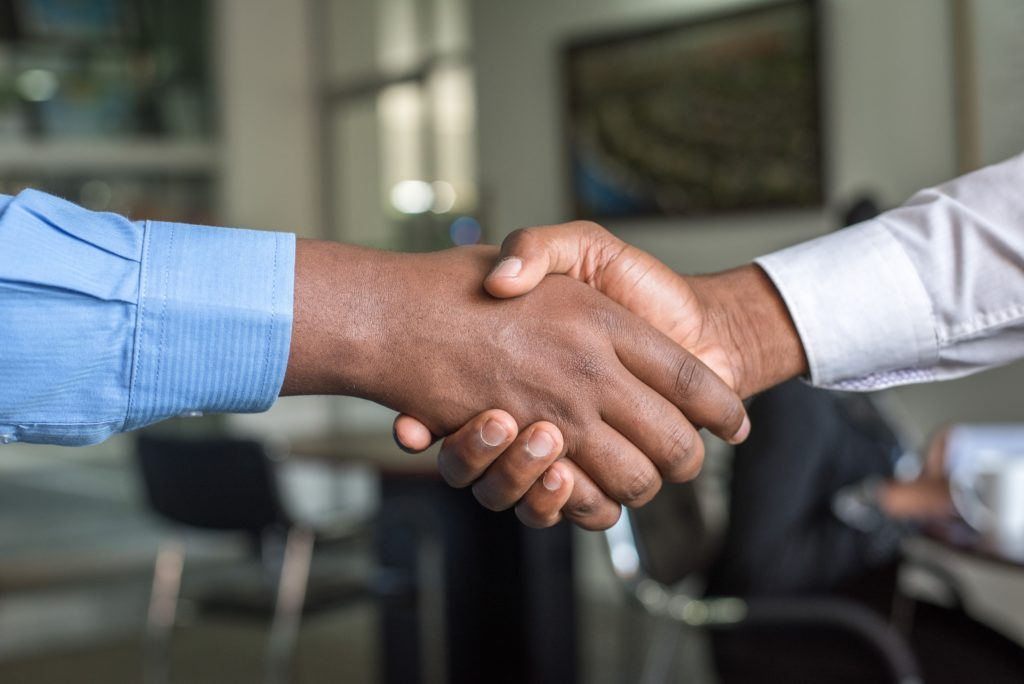 Handshake for a deal