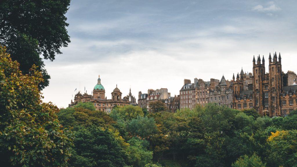 Edinburgh green views castle