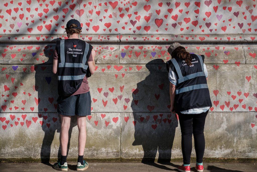 London COVID memorial wall