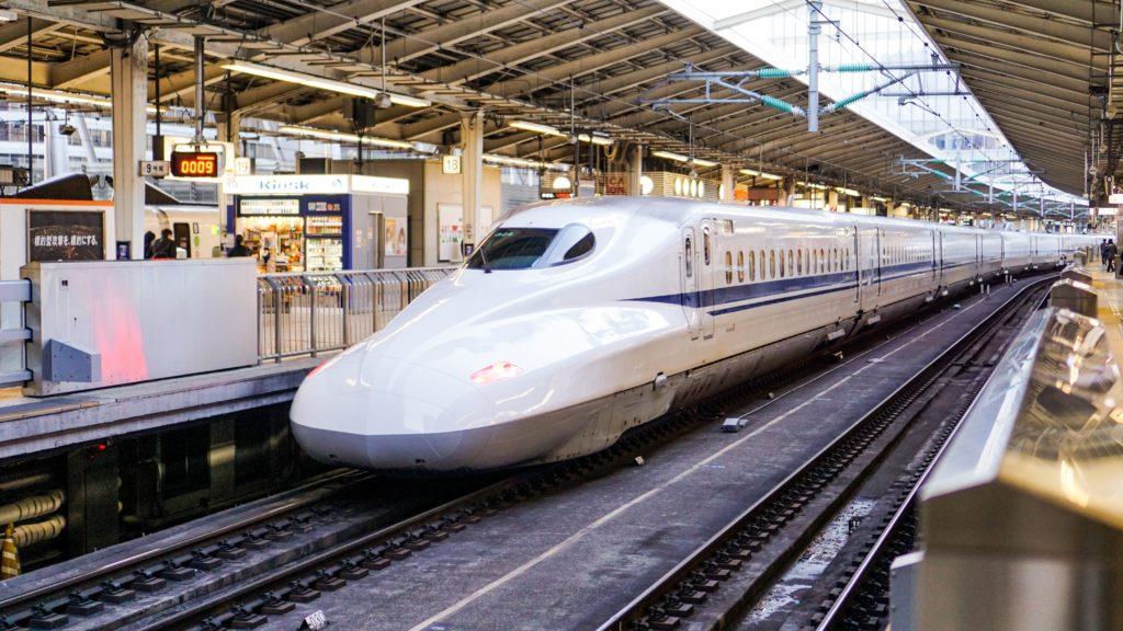 Japan bullet train in station