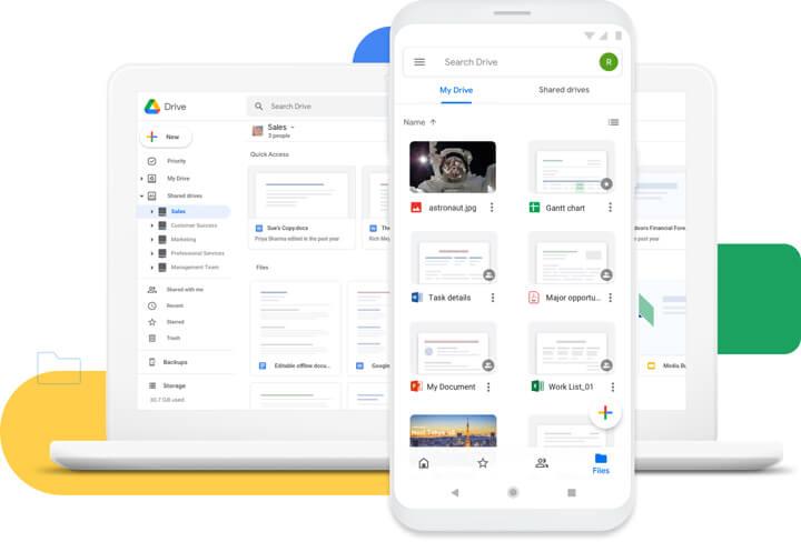 Google Drive product shot
