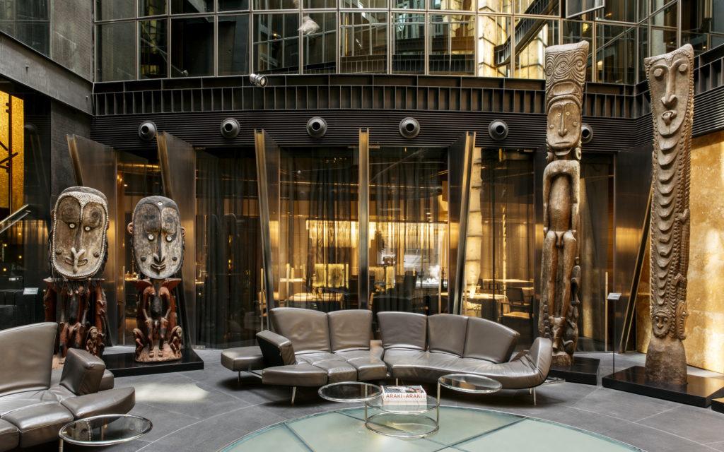 Hotel urban lobby