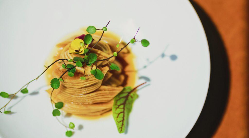 Gourmet pasta dish