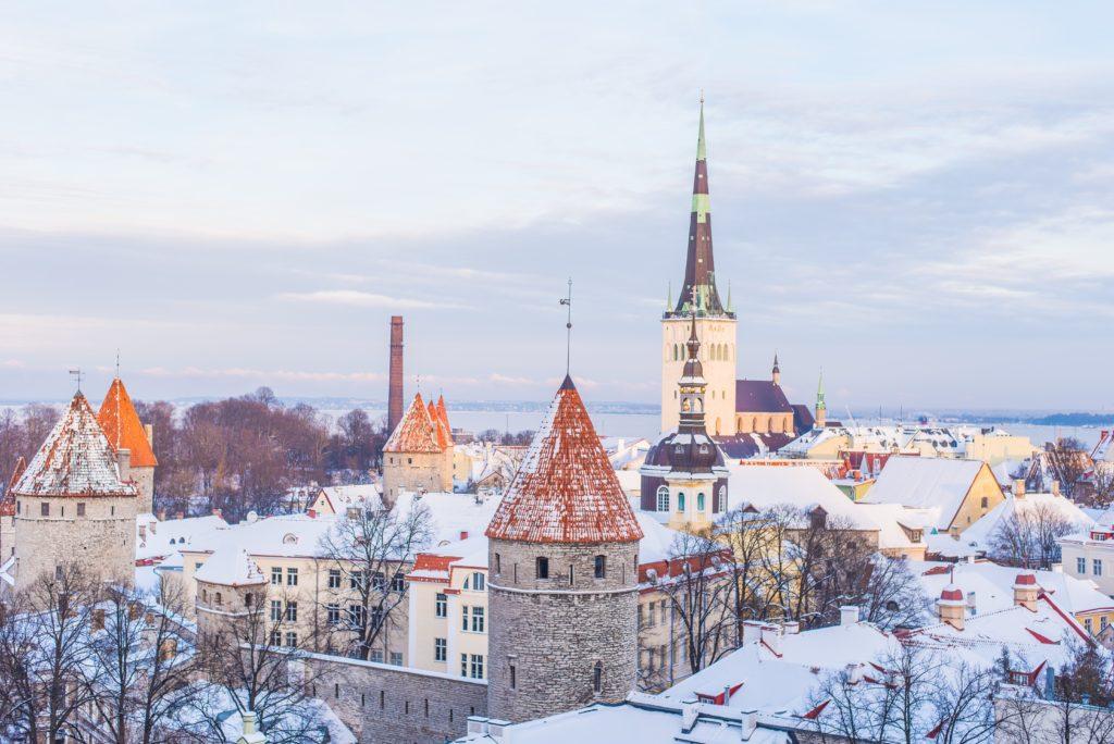 Tallinn under the snow