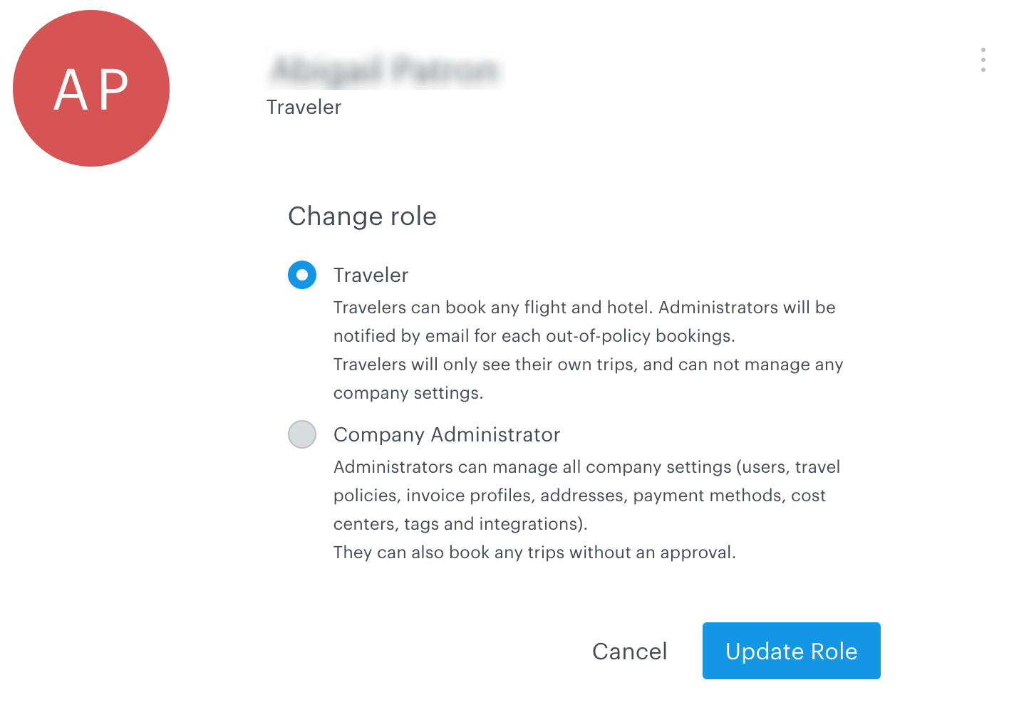 TravelPerk: how to change a team member's role
