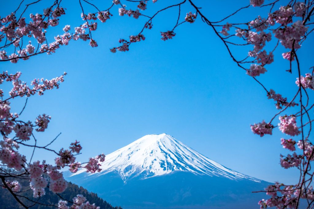 Views of Mt Fuji Japan