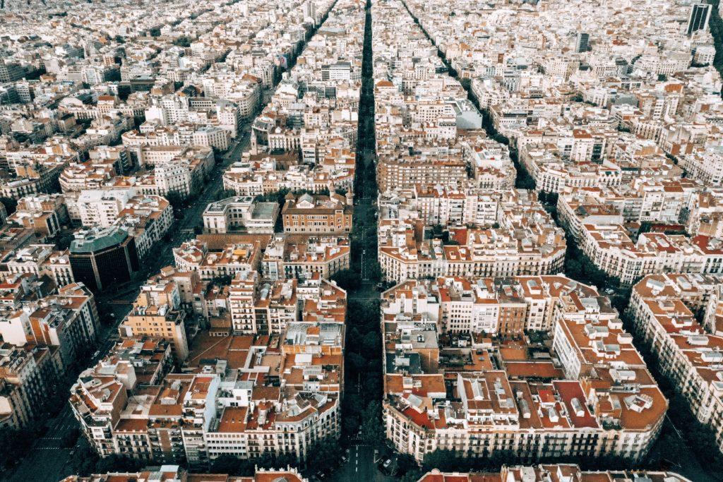 Barcelona Eixample birds eye view