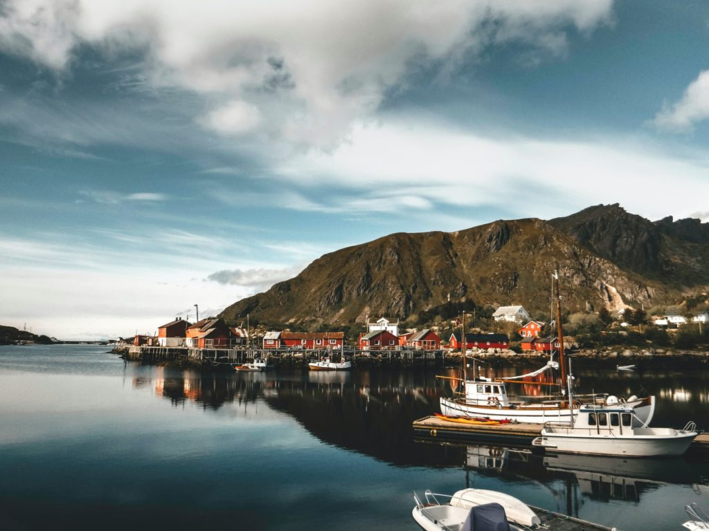 Norway boats in sea