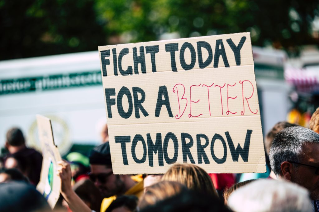 Better tomorrow sign