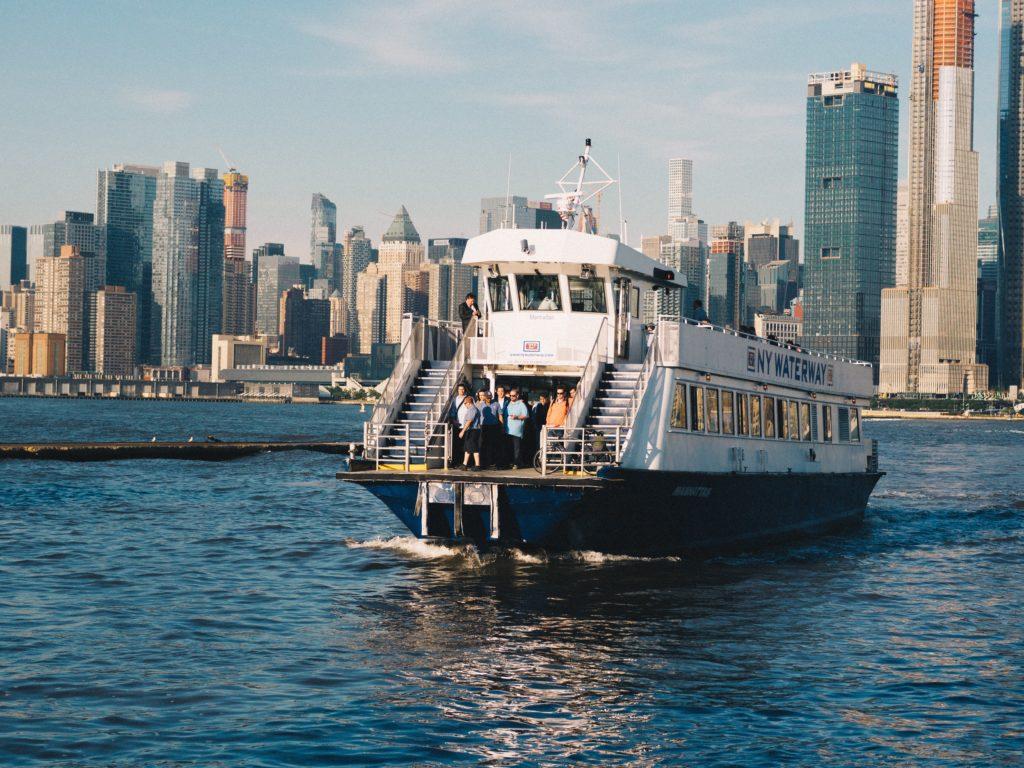 Ferry New York skyline