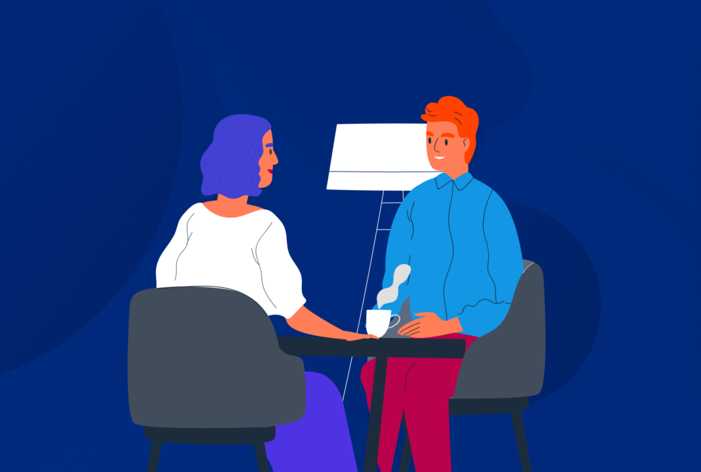 Face to face meeting illustration