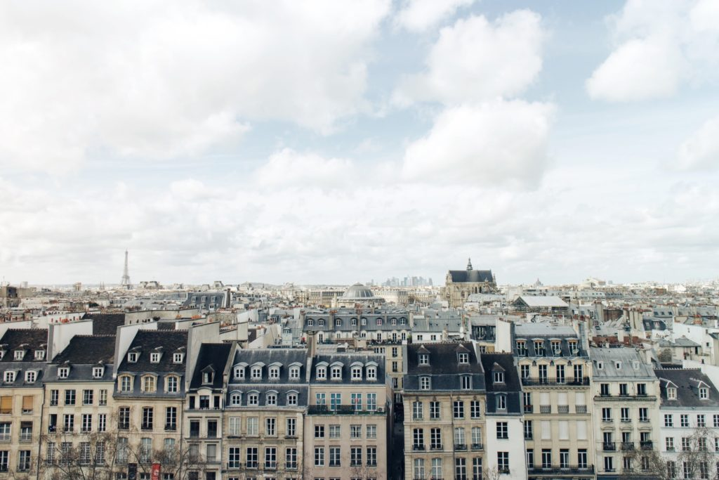 Paris buildings and rooftops