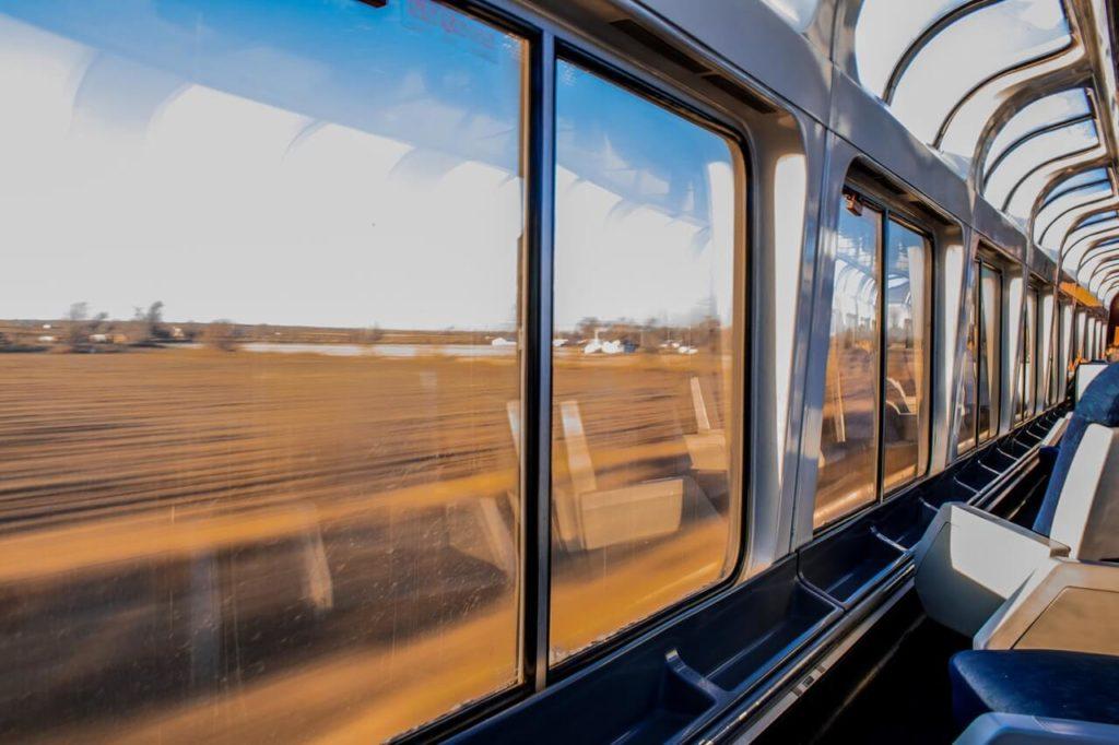 Travel by train views