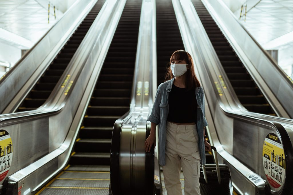 COVID travel mask