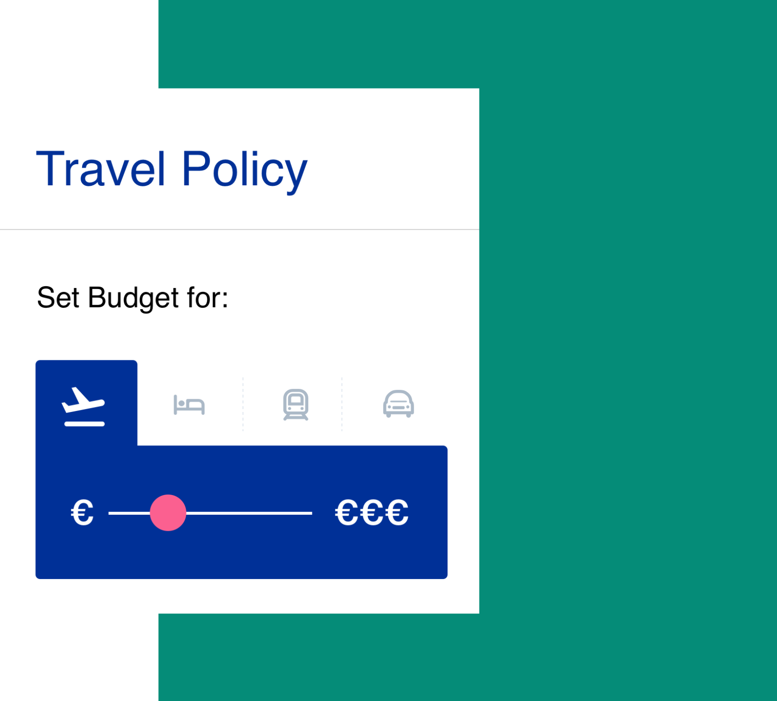 Travel policy budget