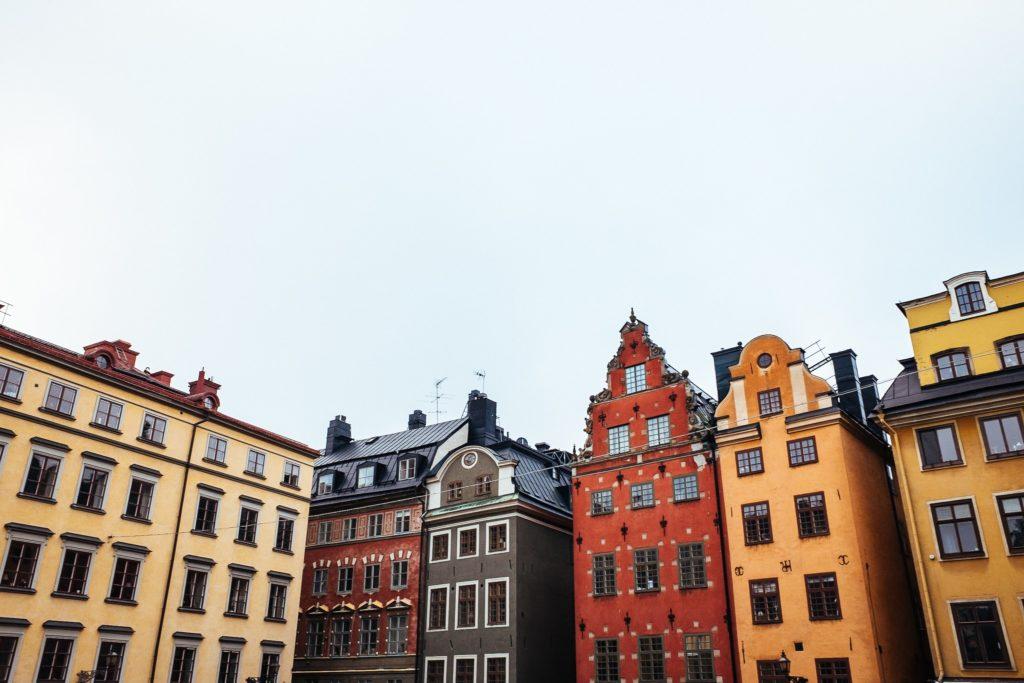 Colourful facades Stockholm
