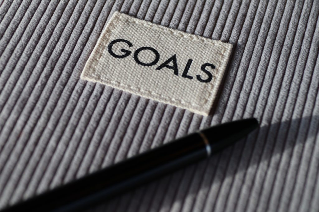 Sign for goals and motivation