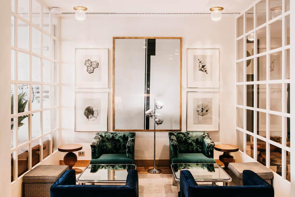 lobby hotel pulitzer barcelona