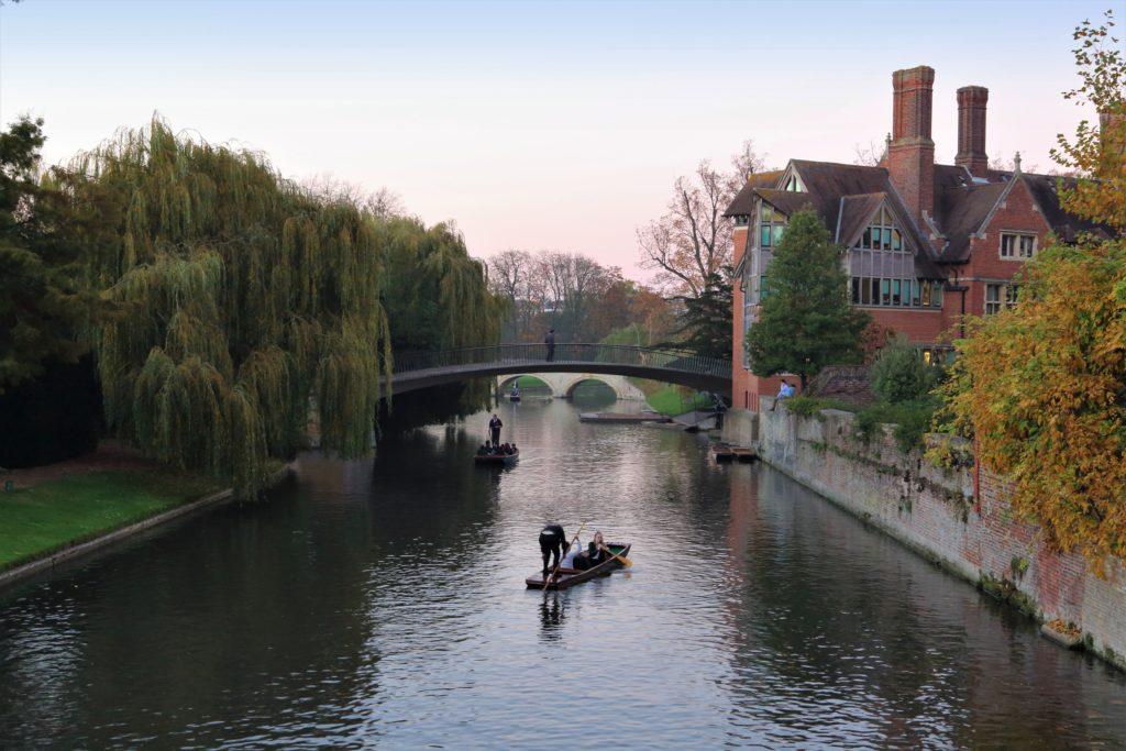 Man on boat Cambridge river