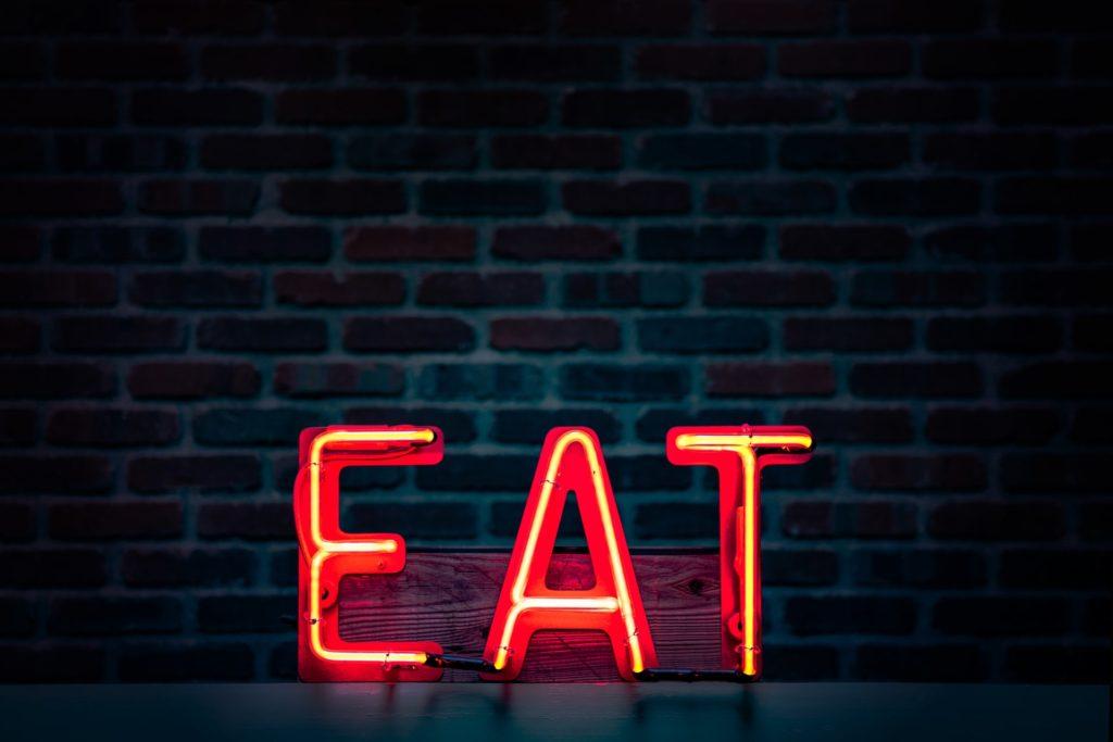 Eat neon sign