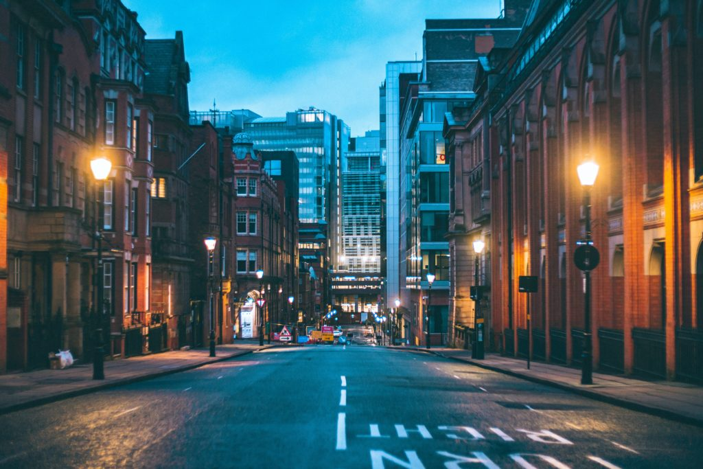 Birmingham city at night