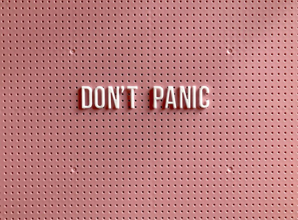 Don't panic pink background