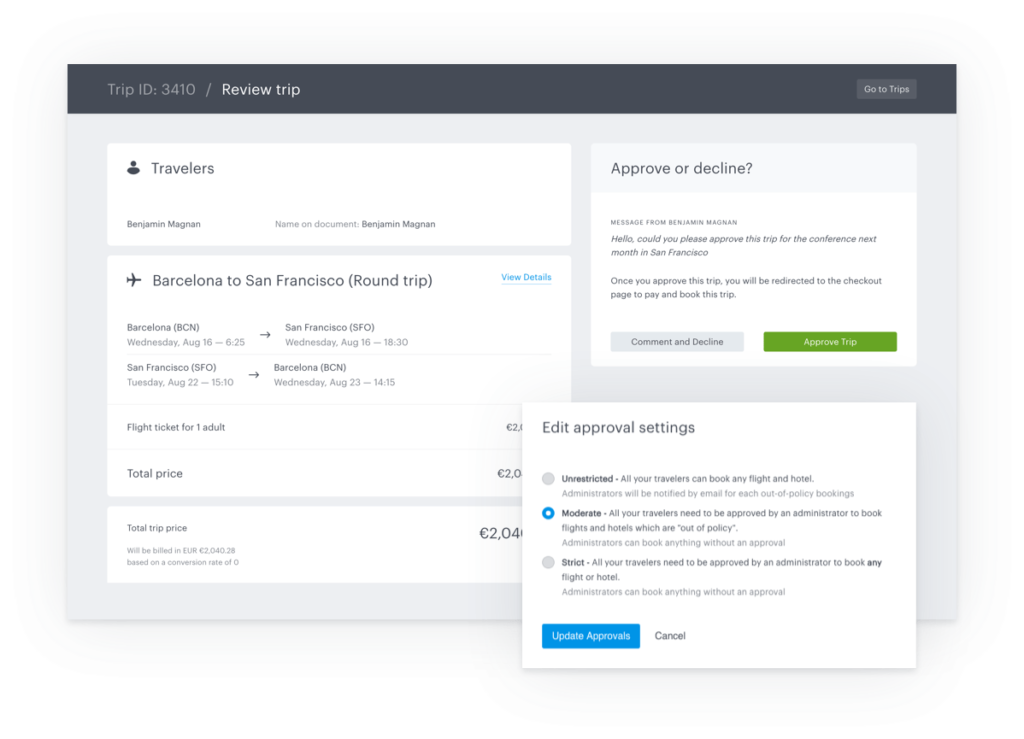 Introducing Automated Business Travel Policies and Approvals