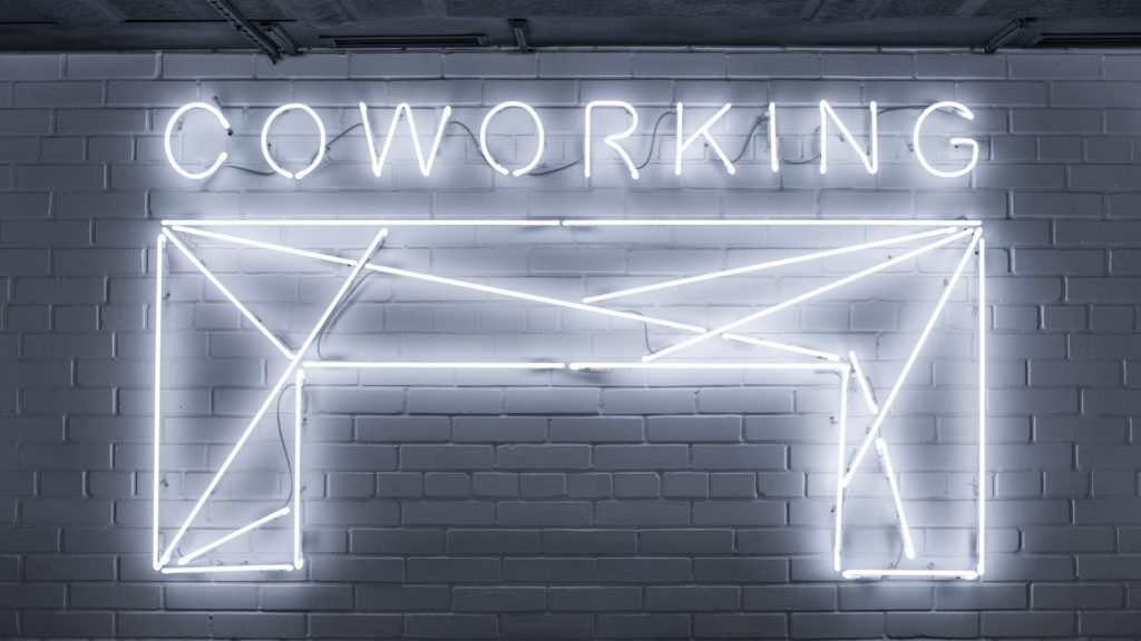Coworking neon sign